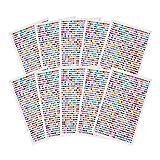 PandaHall Elite 7800 pcs 3mm Half Round Self Adhesive Acrylic Rhinestone Sticker, 10 Sheets Colorful Craft Jewels Crystal DIY Gem Stickers for Nail Art Makeup Body Scrapbooking, 780 Pcs/Sheet (Color: Mixed Colors-10 Sheets, Tamaño: Round-3mm)