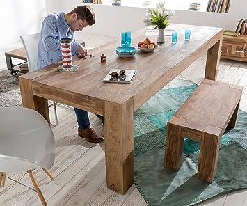 holztisch colombe sheesham natur 280x100 beine durchgestossen esstisch db694. Black Bedroom Furniture Sets. Home Design Ideas