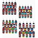 Millennium Mom's Tattoo Ink 56 Color Set 1/2 (.5) oz Bottles