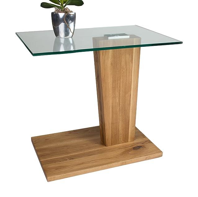 HL Design 01-08-441,5 Arianna-Tavolino basso in legno di rovere selvatica, 60 x 40 x 56,0 cm
