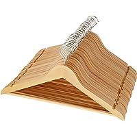 30-Pack AmazonBasics Wood Suit Hangers (Natural)