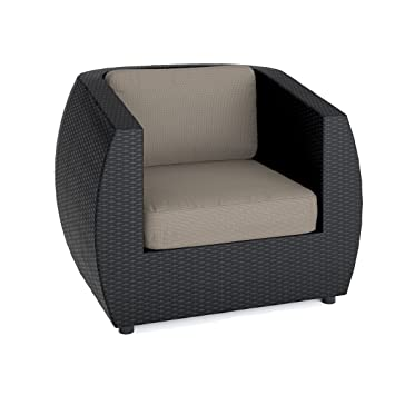 CorLiving PPS-601-C Seattle Patio Chair, Textured Black Weave