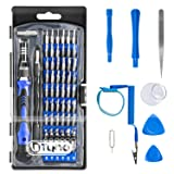 Precision Screwdriver Set TyhoTech 65 in 1 Magnetic Screwdriver Set Repair Tools Kit with 54 Bits Driver Kit for iPhone iPad Laptop Smartphones MacBook PC Watches Xbox Glasses Cameras (Color: Blue)
