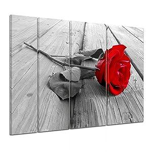 Bilderdepot24 Keilrahmenbild Rose Steg  180x120 cm 4 teilig  fertig gerahmt, direkt vom Hersteller   Überprüfung und Beschreibung