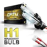 OPT7 2pc Bolt AC H1 Replacement HID Bulbs [5000K Bright White] Xenon Light (Color: 5000K Bright White, Tamaño: H1)