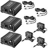 Neewer 3 Pack 1- Channel 48V Phantom Power Supply Black with Adapter and XLR Male to XLR Female Cable, 8 Feet, for Any Condenser Microphone Music Recording Equipment, Ideal for Stage and Studio Use (Tamaño: 3 Pack)