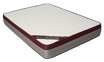 Imperial Confort Premium Helsinki - Viscoelastische Matratze, 190 x 135 x 25 cm, Farbe burgunderrot und grau