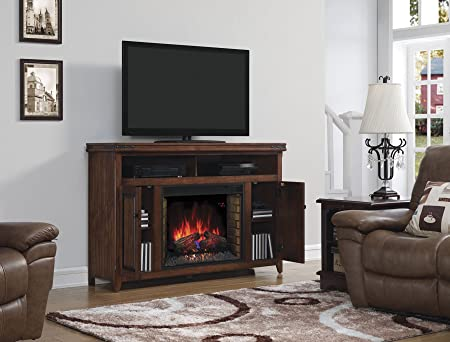 "ClassicFlame 28MM9644-X332 Mayfield TV Stand for TVs up to 65"", Cherry (Electric Fireplace Insert sold separately)"