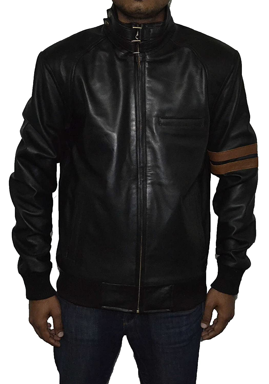 Haliburt men Real Sheep Leather Jacket SAT 2