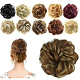 FESHFEN Synthetic Hair Bun Extensions Messy Hair Scrunchies Hair Pieces for Women Hair Donut Updo Ponytail (Color: A27- 12h24 Brown & Blonde, Tamaño: Normal)