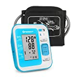 Digital Upper Arm Blood Pressure Monitor by PERBEAT, Fully Automatic BP Machine Fits for Standard and Extra Large Arm with Large LCD Display, 2 * 120 Memory Storage & Voice Broadcast - FDA Approved