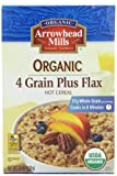 Arrowhead Mills Organic Hot Cereal, 4 Grain Plus Flax, 24-Ounce Boxes (Pack of 6)
