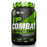 MusclePharm Combat Protein Powder - Essential blend of Whey, Isolate, Casein and Egg Protein with BCAA's and Glutamine for Recovery, Chocolate Milk, 2 Pound, 26 Servings (Color: Brown, Tamaño: 2 lb.)