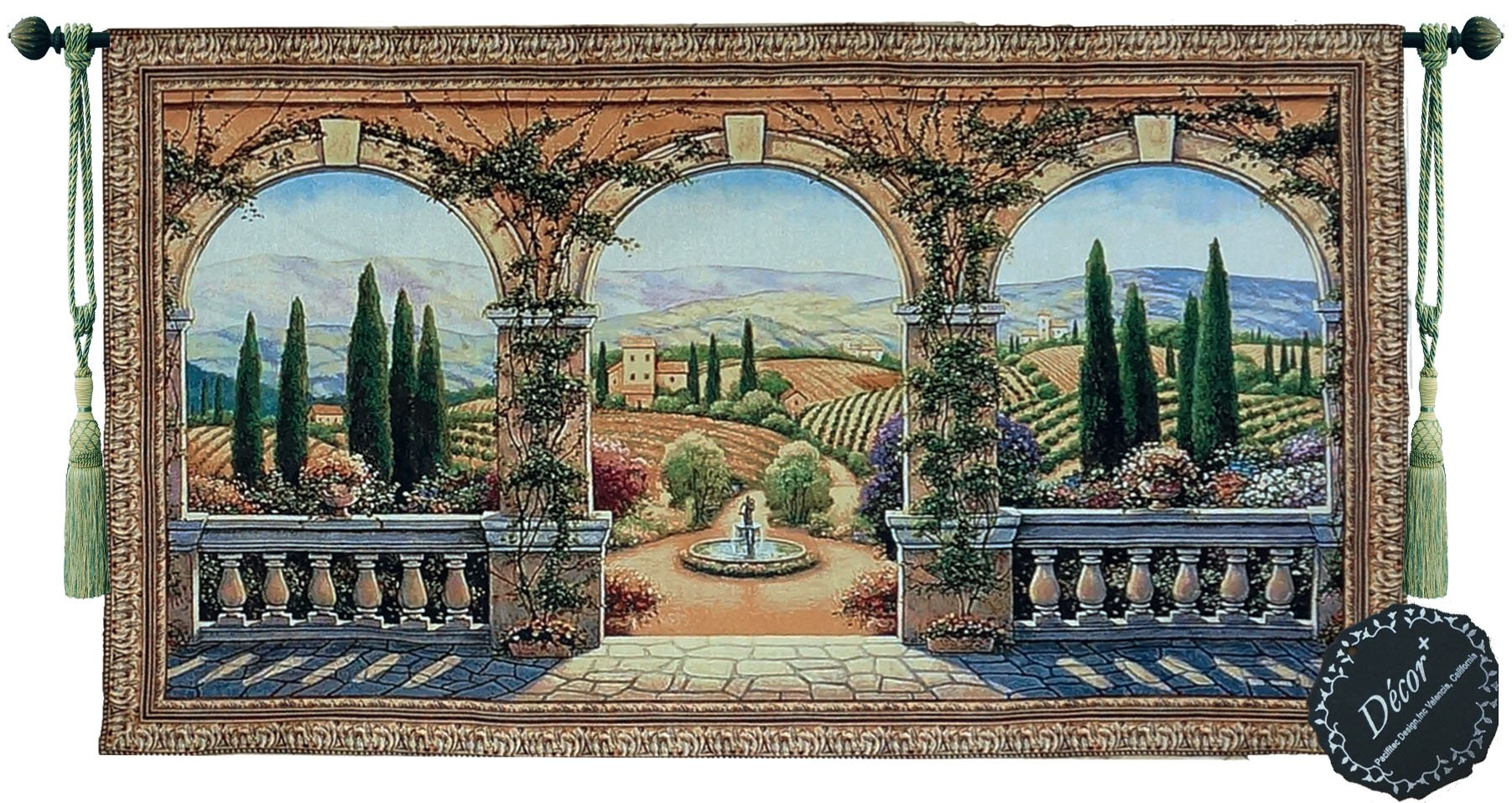 Tuscany Lanscap Arch Fine Tapestry