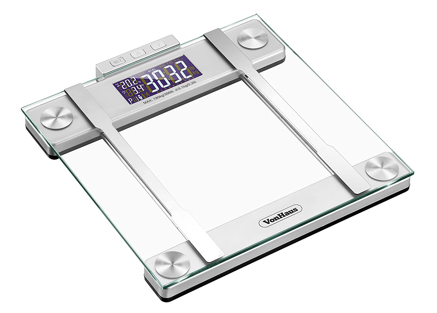 VonHaus Digital Glass Body Fat Scale