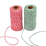 Sunmns Christmas Twine Cotton String Rope Cord for Gift Wrapping, Arts Crafts, 656 Feet (Multicolor A) (Color: Multicolor a)