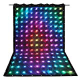 GBGS 30 Pattern RGB LED Video Curtain Screen for Stage,Wedding, DJ Backdrop 8CH with SD Controller and Fire Retardant curtain for Birthday/Christmas Party(3x2m; Size can also be Customized)