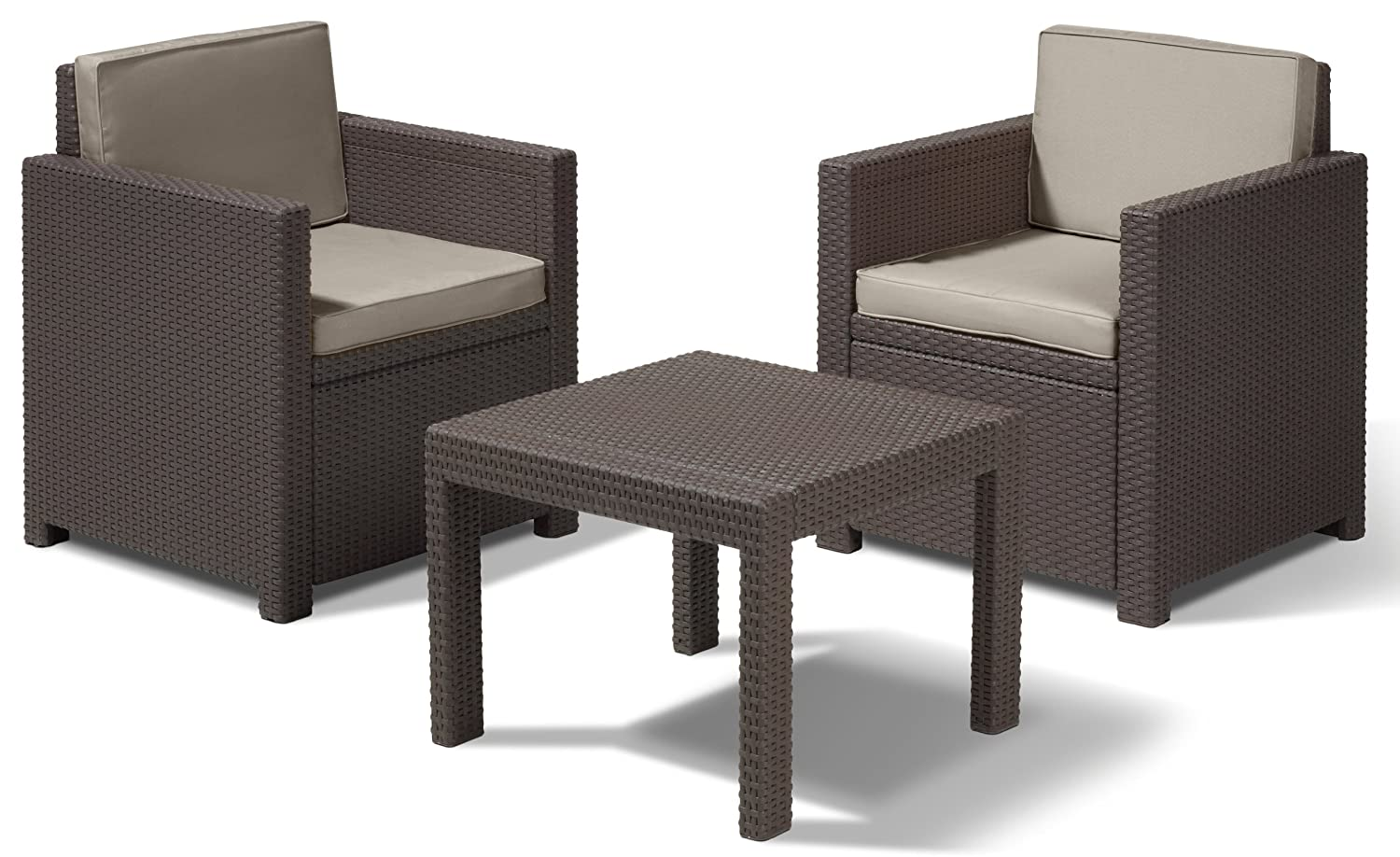 allibert lounge set victoria balcony braun 3 teilig g nstig online kaufen. Black Bedroom Furniture Sets. Home Design Ideas