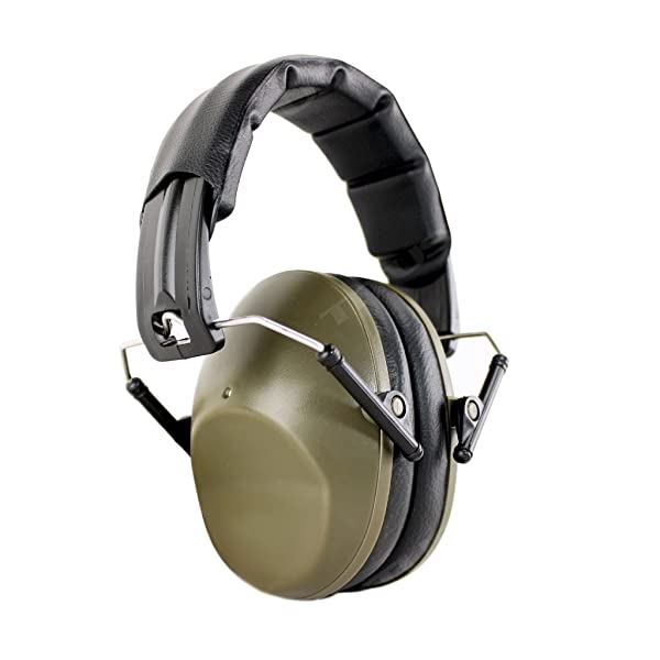 TITUS Low-Profile 34 Decibel NRR Safety Earmuffs (No Pouch, Plain Olive Drab) (Color: Olive - Economy (Unmarked), Tamaño: No Pouch)