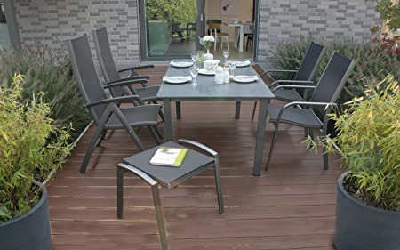 Gartenmöbel Set Boston Aluminium Gartengarnitur Garten Sitzgruppe Sitzgarnitur