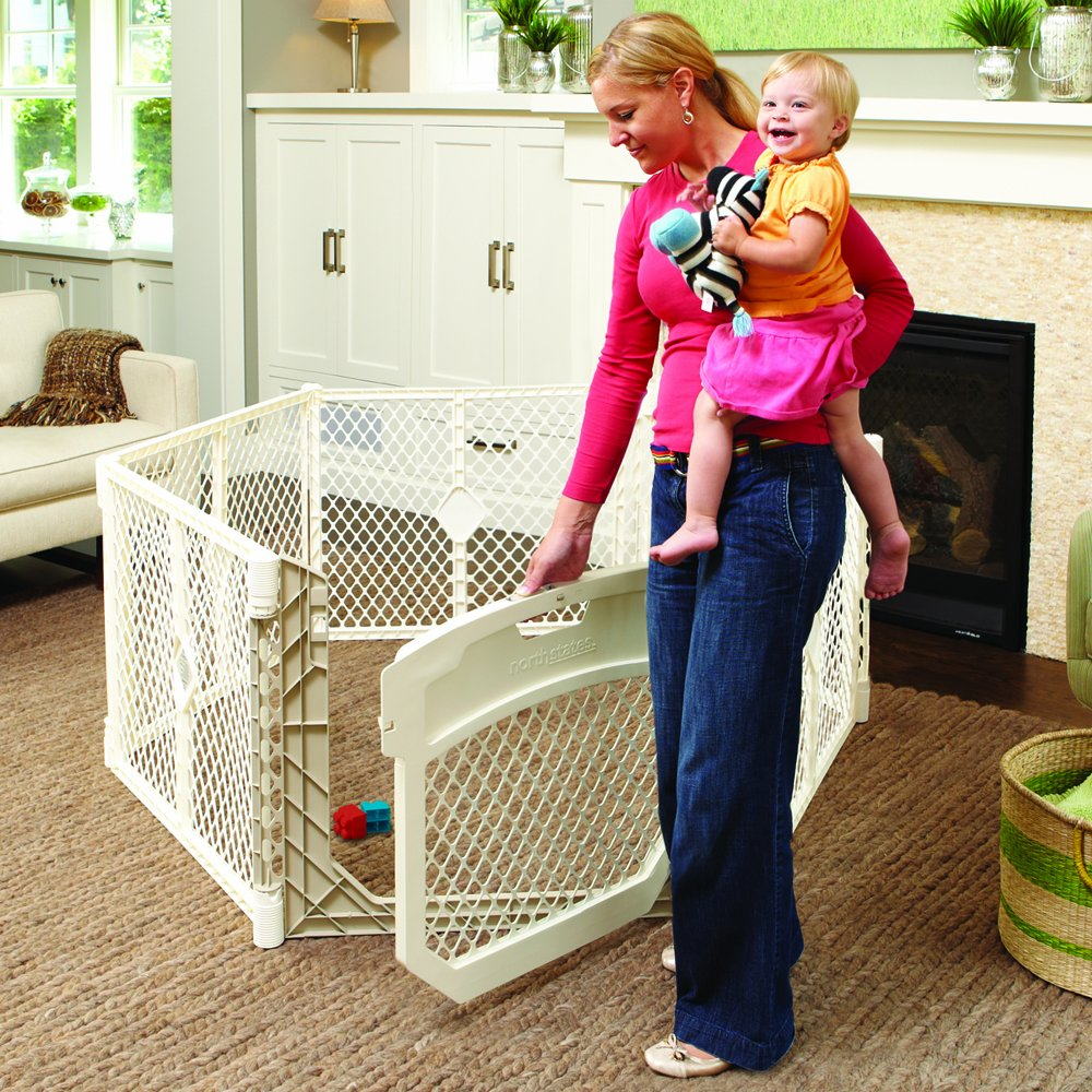 North States Superyard Ultimate Play Yard, Ivory Baby Gate