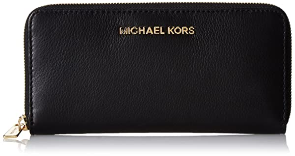 2. Michael Kors Bedford Zip Around Continental (Black) Wallet
