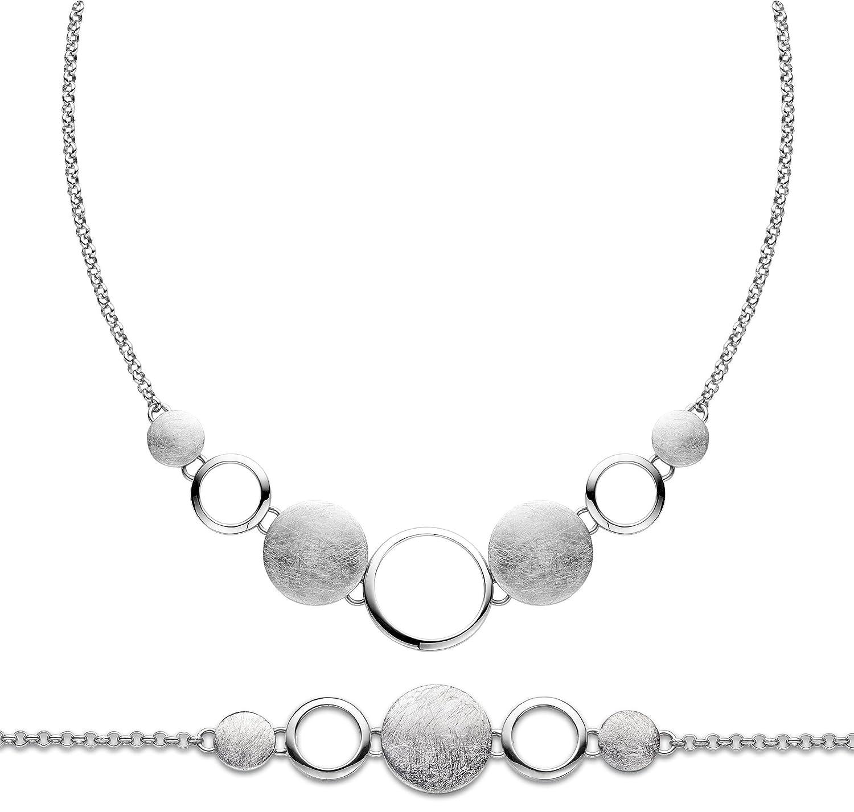 Orphelia Damen-Schmuckset Pure Collection 925 Sterlingsilber Kette 43 cm Armband 19 cm SET-027 online kaufen