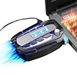 COOCHEER Laptop Cooling Fan Vacuum Cooler with Digital Display,Auto-Temp Detection,Rapid Cooling,USB Power Supply,Perfect for Gaming Laptop Cooler,Support 12-17 Inch Laptops,Black (Color: Black, Tamaño: #4)