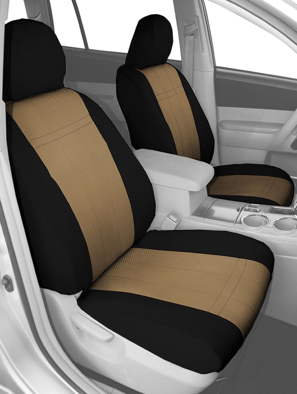 CalTrend Custom Fit Seat Cover for Select Chevrolet Equinox/Pontiac Torrent Models - Carbon Fiber