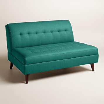 Textured Woven Florian Upholstered Love Seat - World Market