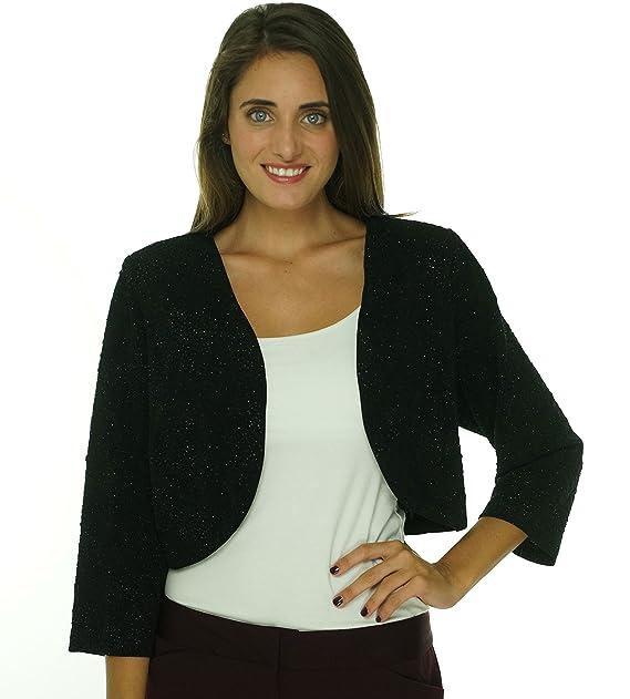 MSK Deep Women's Plus Textured Shimmer Bolero Shrug