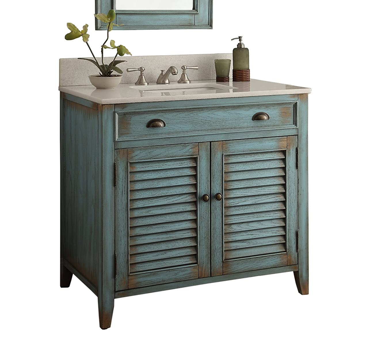 "36"" Cottage look Abbeville Bathroom Sink Vanity Cabinet - Model # CF28884BU 1"