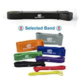Assisted Pull-Up Bands, Pull Up Bands, Stretching Bands (Single unit), Pull-Up Assist Bands, Workout Bands, Pull Up Elastic #2 Black (S) 50-75 lbs. 7/8
