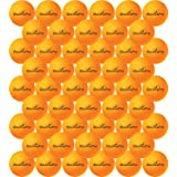 50 Pack Table Tennis Balls - 40mm Orange Ping Pong Ball Bulk Set for Training or Beer Pong by iBouncePro