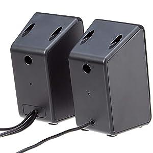 AmazonBasics Computer Speakers for Desktop or Laptop PC | USB-Powered (Color: Black)