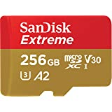 SanDisk 256GB Extreme microSDXC UHS-I Memory Card with Adapter - C10, U3, V30, 4K, A2, Micro SD - SDSQXA1-256G-GN6MA (Renewed) (Tamaño: 256GB)
