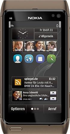 Nokia N8 Smartphone - Ecran tactile 8,9 cm -3,5 pouces - 12 mégapixels - pinch-zoom - Ovi Maps - Bronze (Import Allemagne)