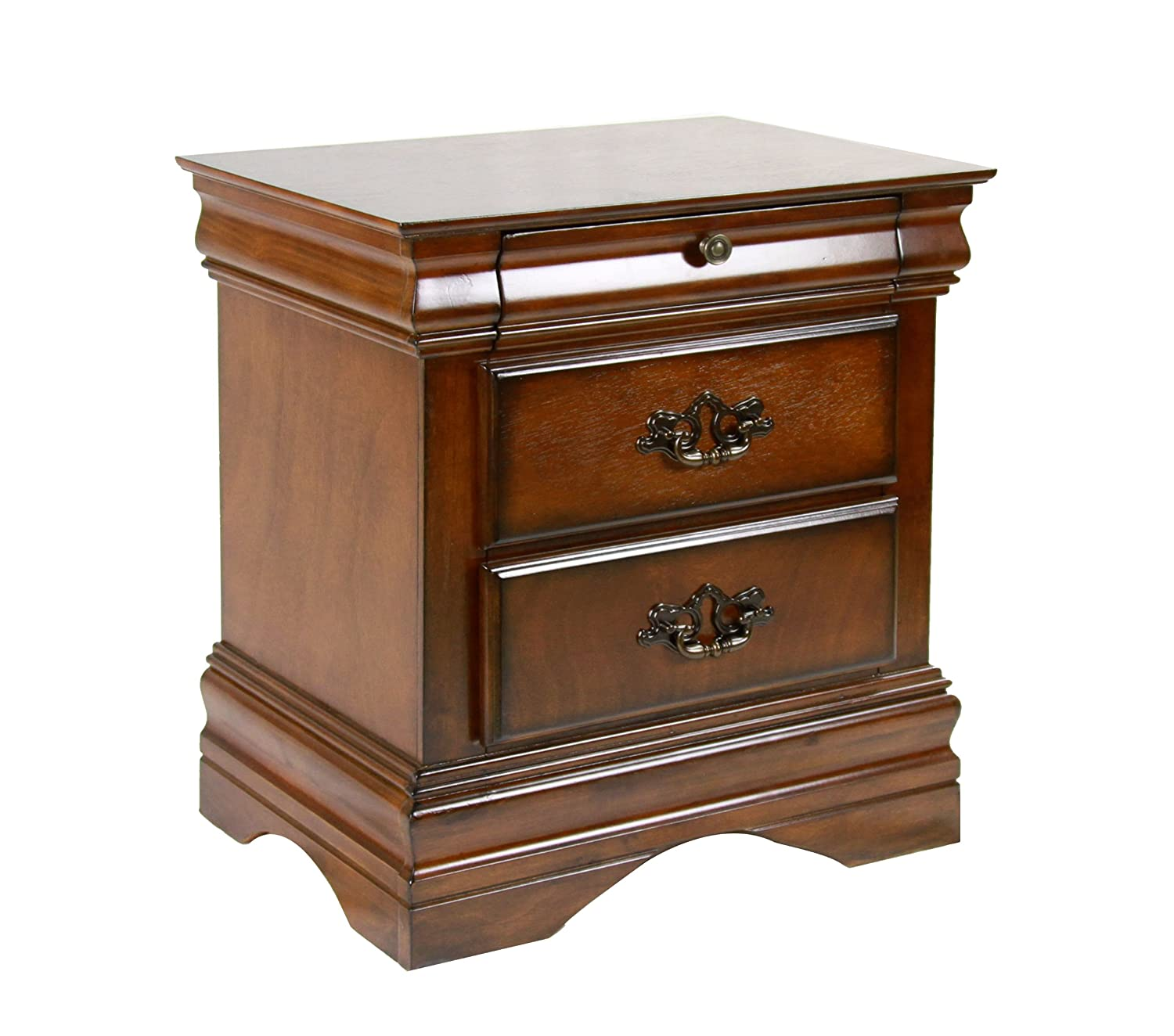 New Dark Oak Solid Wood Night Stand Home Decor Furniture