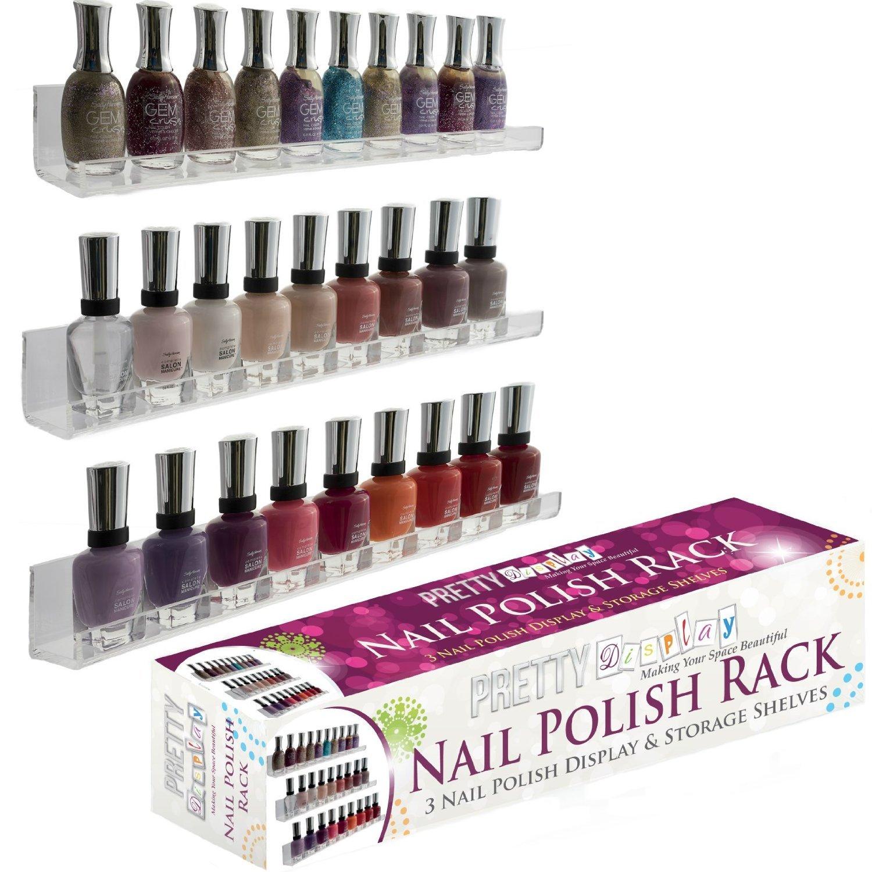 Invisible acrylic nail polish rack versatile 3 floating for Acrylic nail salon