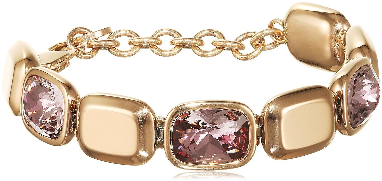 Dyrberg/Kern Damen-Armband 15/02 Tana Rg Ant Rose teilvergoldet Kristall pink 21.3 cm – 337632 günstig kaufen