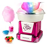 Nostalgia PCM805GRB Hard & Sugar-Free Cotton Candy Maker with Glo Cones, Raspberry w/Glowcones (Color: Raspberry)
