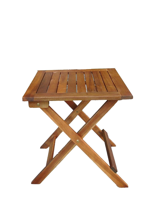 Beistelltisch Klapptisch BELINDA von 1stuff aus Massivholz Eucalyptus für Garten, Terrasse und Balkon – Balkonmöbel, Gartenmöbel, Terrassenmöbel, Couchtisch, Ablagetisch – Maße 46x46x46cm (naturbraun geölt) bestellen