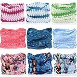 KALILY Headwear Head Wrap Sport Headband Sweatband – 200+ Patterns Magic Scarf for Camping, Running, Cycling, Fishing etc (Color: N Pack, Tamaño: Medium)