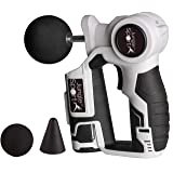 JungleSportTM BEZ-H-26 Massage Gun Compact & Powerful Full Body Percussion for Personal & Professional Use (Three Heads) (Color: White)