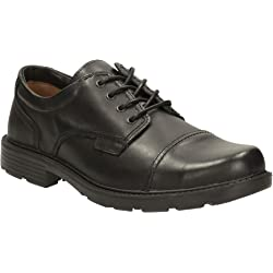 Clarks Mens Lace-Up Derby Toe Cap Shoes - Black