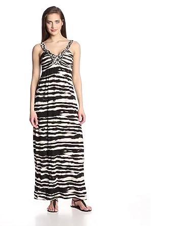Design History Women's Painter Stripe Braid Maxi Dress ...