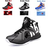 Boys Basketball Shoes Lace Up High Top Sneaker Outdoor Trainers For Unisex Kids Durable Sport Shoes (Little Kid/Big Kid) Armor Black,5M US Big child (Color: Armor Black, Tamaño: 5M US Big child)