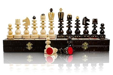 Jeu d'échecs en bois belles exclusif romaine l 53cm/20,8 in