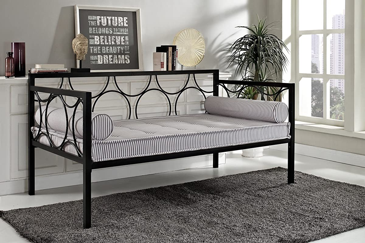 DHP Rebecca Daybed Metal Frame, Twin Size - Black