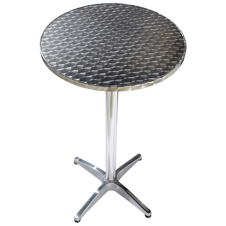 """Gartentisch """"Bistro Alu 2 in 1"""" aus rostfreiem Stahl Silber jetzt bestellen"""